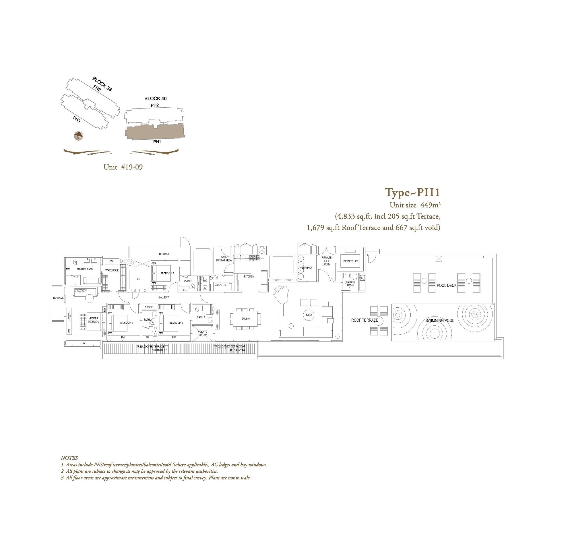 The Laurels Penthouse Type PH1 Floor Plans